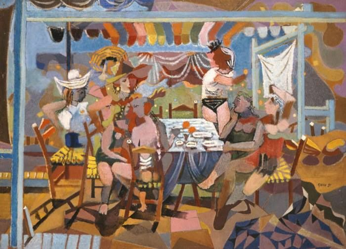 Νίκος Χατζηκυριάκος - Γκίκας - Γλέντι στο ακρογιάλι, 1931