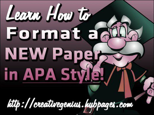 When your professor requests that you write your paper according to APA style (the official style of the American Psychological Association), you will need to follow several formatting rules that will make your paper more coherent and easier to read. Use this helpful checklist with visual examples to help you format a new paper in APA style!