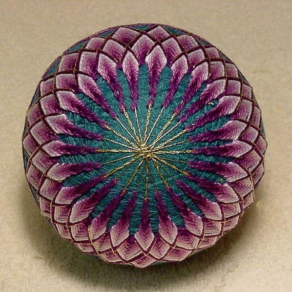 Japanese Temari Ball Chrysanthemum by BethsTemariBalls