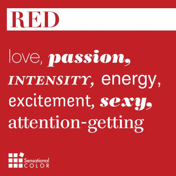 Words That Describe Red - Sensational Color