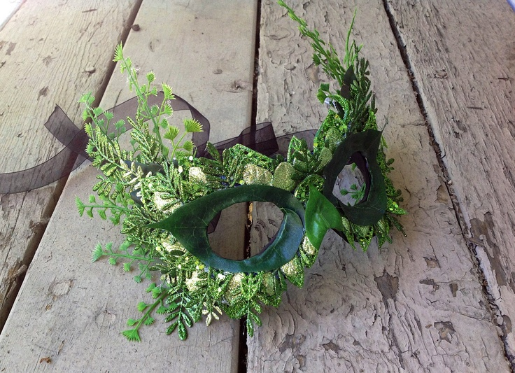 Elegant Spring Green Poison Ivy Fern Masquerade Mask.. $70.00, via Etsy.