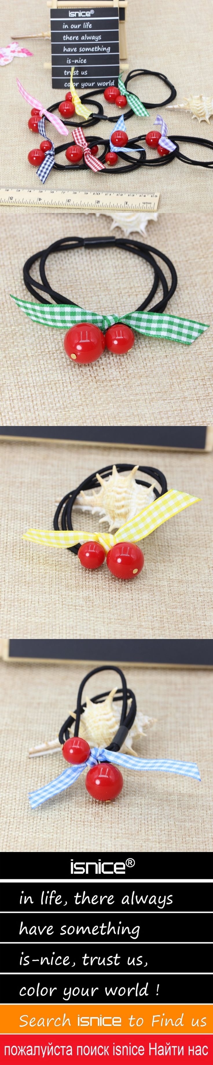 isnice Hair accessories for women wholesale hair bands red ball with belt headwear fashion girl hair ornaments haar