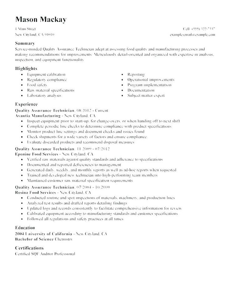 mechanical inspector sample resume inspector resume