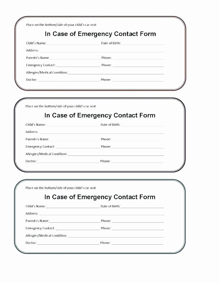 Medication Wallet Card Template In 2020 Emergency Contact Form