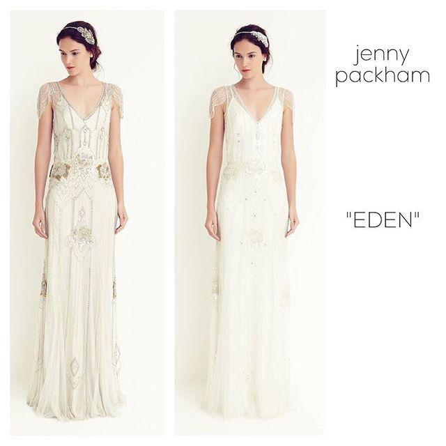 """* 理想のドレス① 〔jenny packham """"EDEN""""〕 * これは結婚が決まる何年も前にピンタで発見し、 可愛さに衝撃をうけたドレス♡ * 華奢なストレートラインのドレスだけど、 存在感のあるビジューとスパンコールの キラキラ感が もぉ‼︎ たまりません( ´ ▽ ` )ノ * 色も何色かあって迷いますねぇ。。 * オールホワイトもウエディングらしくてイイけど、 ゴールドなどが入った方が デザインがはっきりしてイイかなぁ、、とか、、 * #ウエディングドレス#ドレス#weddingdress#dress#jennypackham#ジェニーパッカム#結婚式#結婚式レポ#ウエディングレポ#プレ花嫁#1920s#ビジュー#スパンコール"""