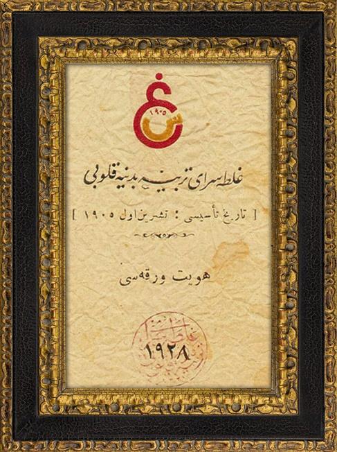Osmanlı Dönemi Galatasaray Belgesi sadece 75 tl detay bilgi : 0535 394 0193 www.livacraft.com