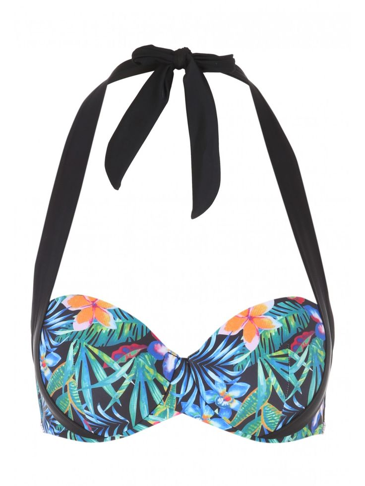 Stand out from the holiday crowd with this women's Emma multiway bikini top. Featuring a halter neck tie and an all over jungle print, this top is a stylish ...