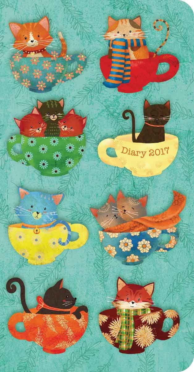 Cats in Teacups Slim Diary 2017