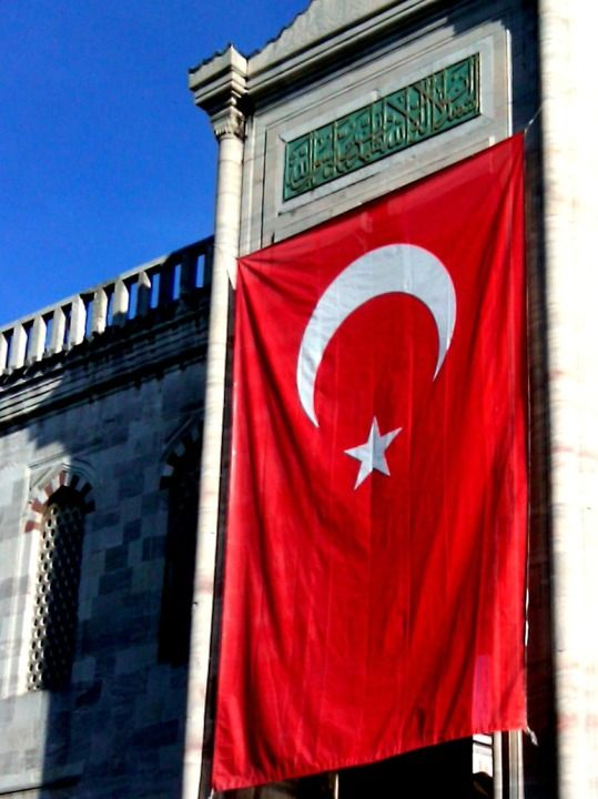 Turkish flag in Istanbul - SoloTripsAndTips.com