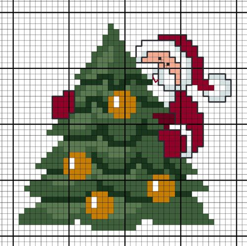 Diagramme Gratuit Dmc Sapin De Noel Cross Stitch Holidays