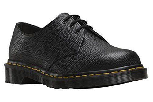 Dr. Martens 1461 3-Eye Shoe,Black Pebble,UK 9 M -- More info could be found at the image url.