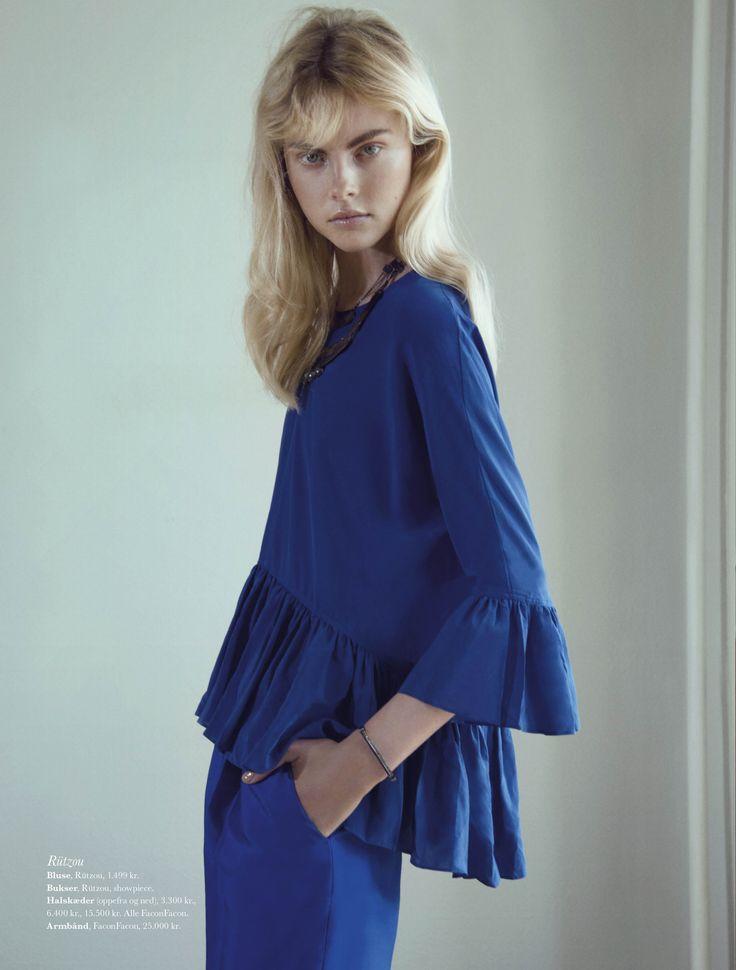 AW13 Rützou blouse in ELLE August issue,  Photographer: Olivia Frølich Stylist: Alexandra Carl