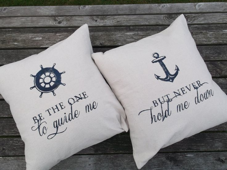 Nautical Pillow Set 23 x 23 by FactoryFive