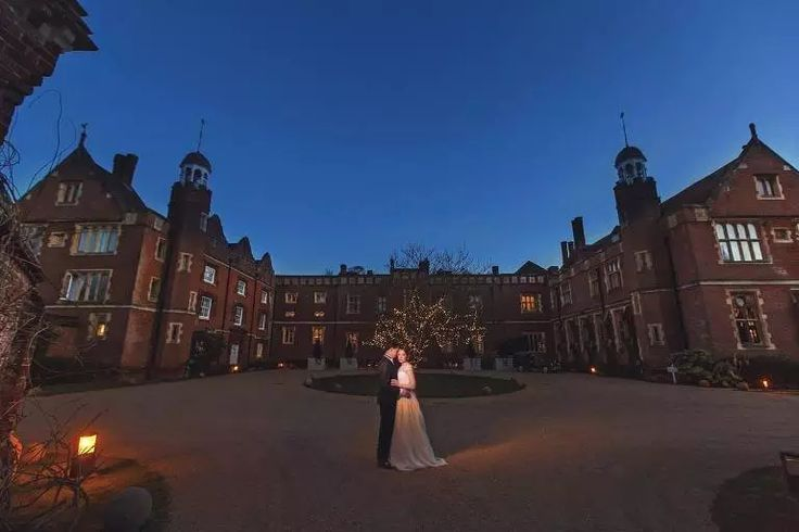 Wotton House Wedding - Bride and Groom in front of Wotton House
