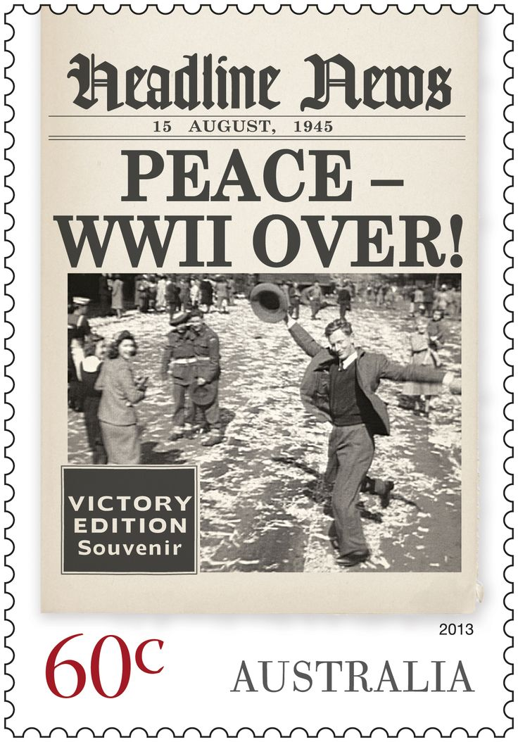 Headline News for 1945 - WW2 is over!