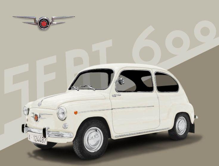 Seat 600 salió al mercado en 1957. El Fiat 600 se había presentado en el Salon de Ginebra en 1955.