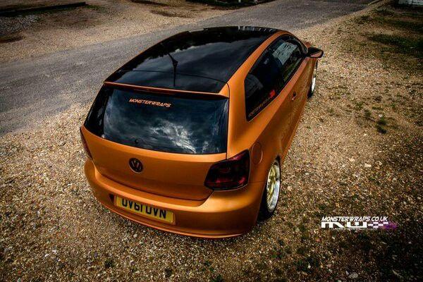 Orange car wrap
