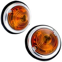 Auto-moto : Sécurité : Feux de gabarit 2 pièces orange.Feux de gabarit utile pour remorque, auto, camion et véhicule agricole.Feux ronds plats.Feux de gabarit