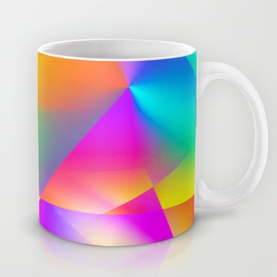Expressionist Cubes Mug by The Digital Weaver - $15.00