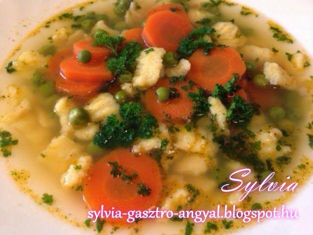 Sylvia Gasztro Angyal: Zöldborsó leves galuskával