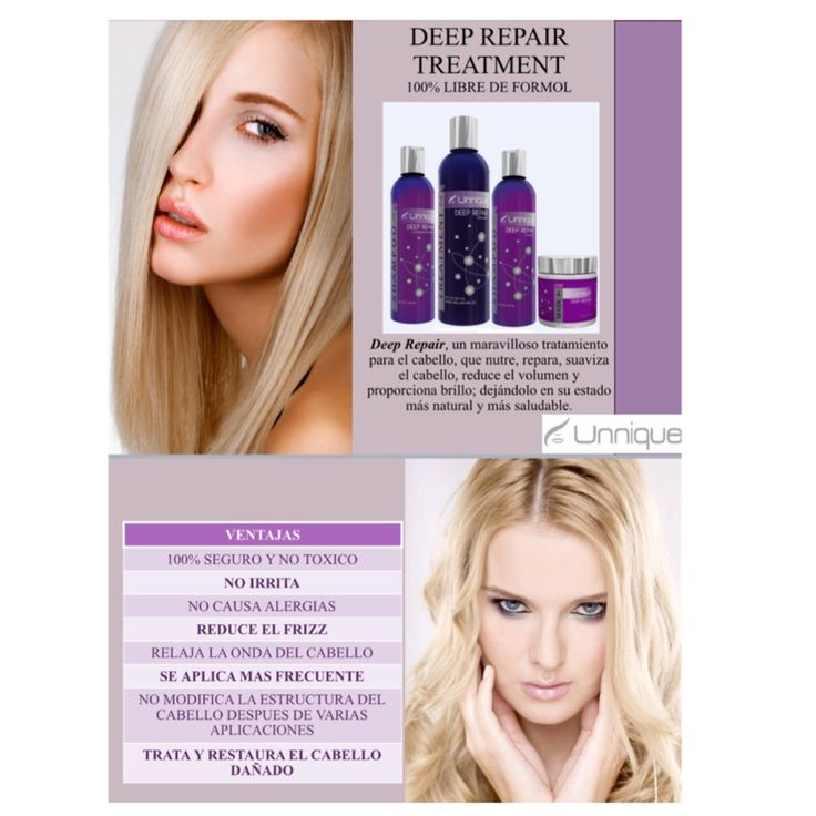 Deep. Repair para pelos con decoloraciones keratina 100% natural libre de formol
