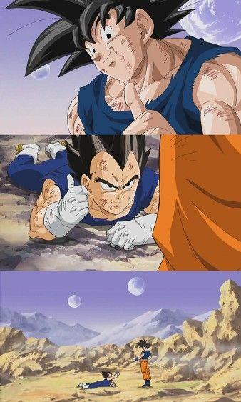 BEAT HIM KAKAROT! Vegeta and Goku. This will be one of my dbz tattoos