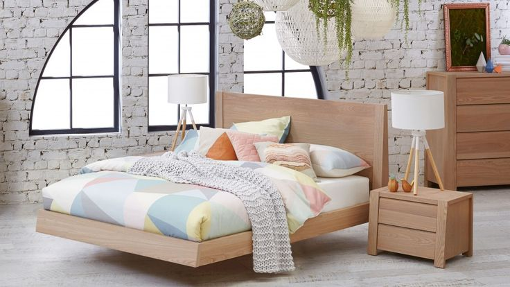Update your boudoir with the natural warmth and elegant, pared-back styling of the 'Latitude' Queen Bed. Featuring clean lines, a contemporary floating base design and exquisitely crafted from combination Elm timber, this stylish bed is also available in double and king sizes.