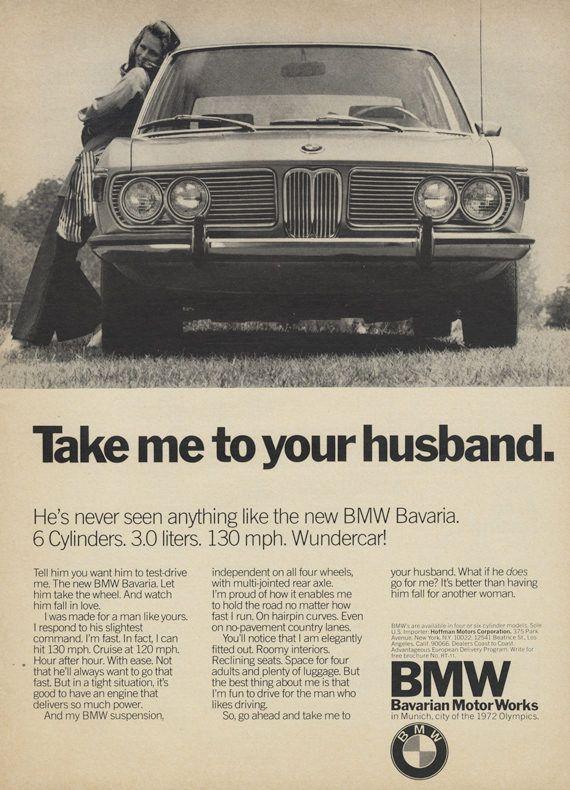 1971 BMW Car Ad Bavarian Motor Works Vintage by AdVintageCom