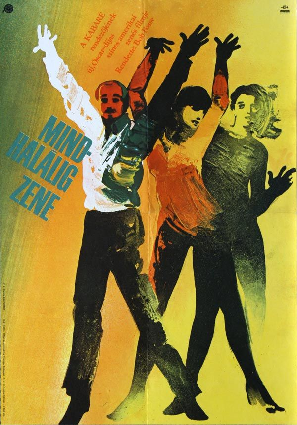 "Mindhalálig zene (1979) ""All That Jazz"" Hungarian vintage movie poster. Artist…"