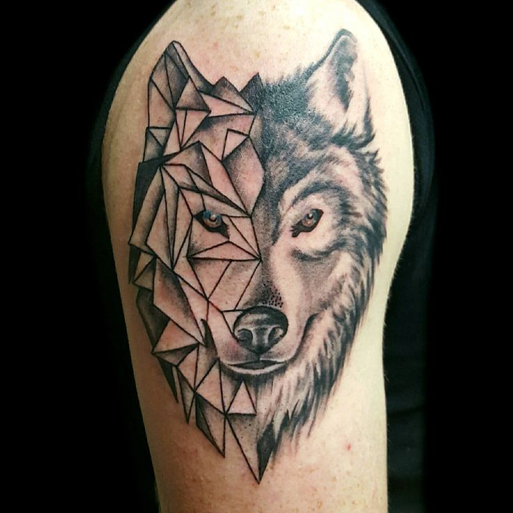 wolf morph coming from Kiss of Ink tattoo Studios! by Laura Carney!