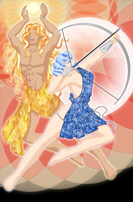 In Greek mythology, Apollo and Artemis are twins, and ...