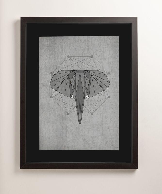 Geometric animal #elephant