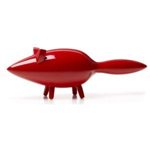 Bengt & Lotta, Švédsko Dřevěná dekorace The Fox (liška) Červená