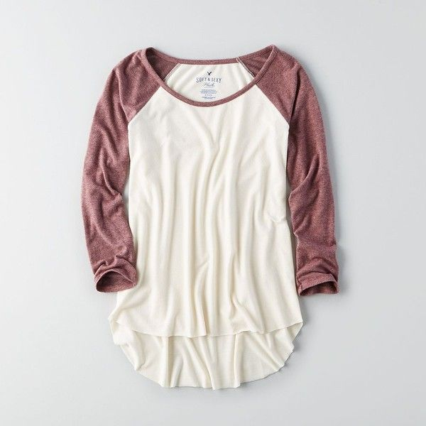 AE Soft & Sexy Plush T-Shirt ($30) ❤ liked on Polyvore featuring american eagle outfitters