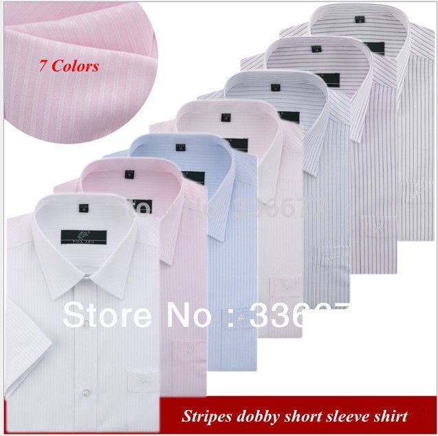 >> Click to Buy << Free shipping casual plus size short sleeve summer men one pocket stripe dobby XS-XXXXL shirt QR-1091 #Affiliate