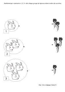 mathématiques-denombrement-numeration-comptine des nombres avec le theme du lapin- petite section maternelle PS