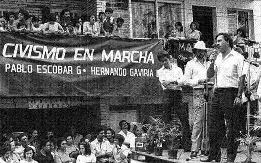 1982, Pablo Escobar serving Colombian Liberal Party, at Colombia's House of Representatives