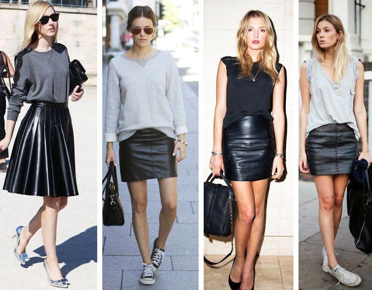 Resultado de imagem para imagens de saia de couro 2016