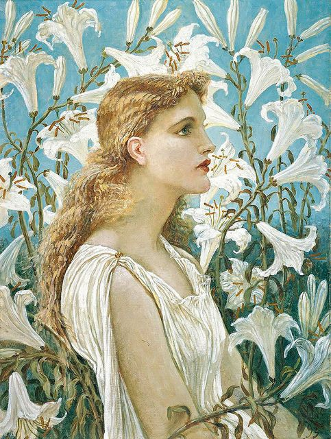 "Walter Crane - ""Lilies"""