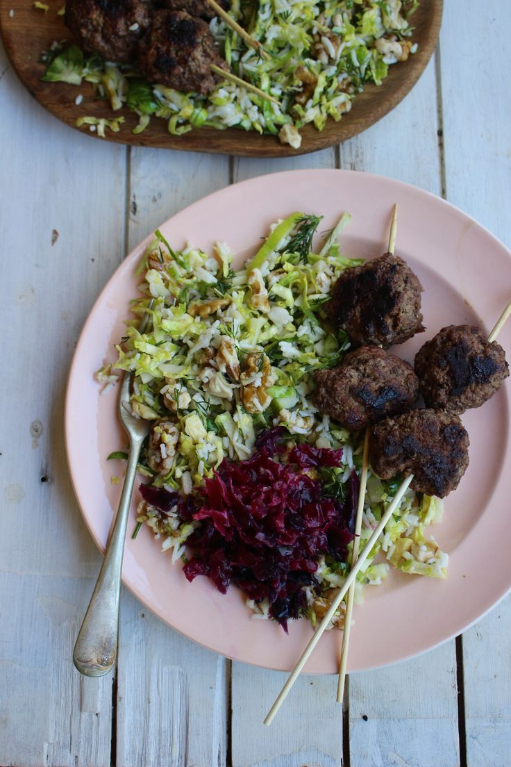 Even eaten Kangaroo? This Paleo recipe is perfect for a warm summer night when you want to try something a bit different. Kangaroo Koftas w/ Shredded Brussel Slaw - I Quit Sugar