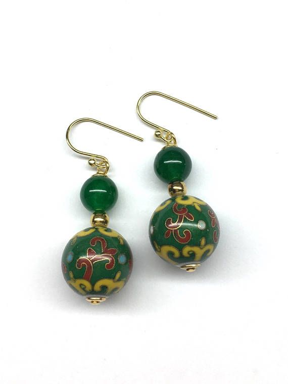 Chinese Cloisonne Earrings Chinese Earrings Chinese