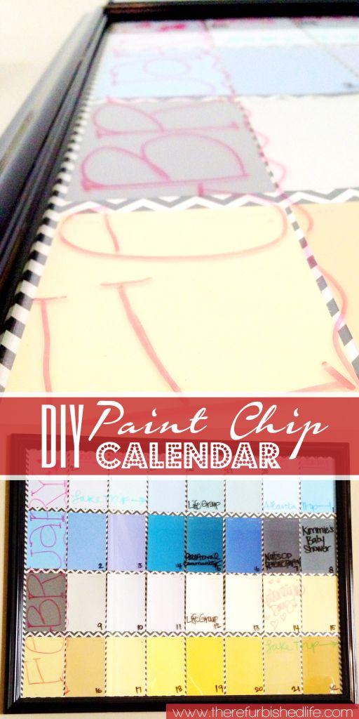The 25+ best Paint chip calendar ideas on Pinterest Calendar - calendar sample design