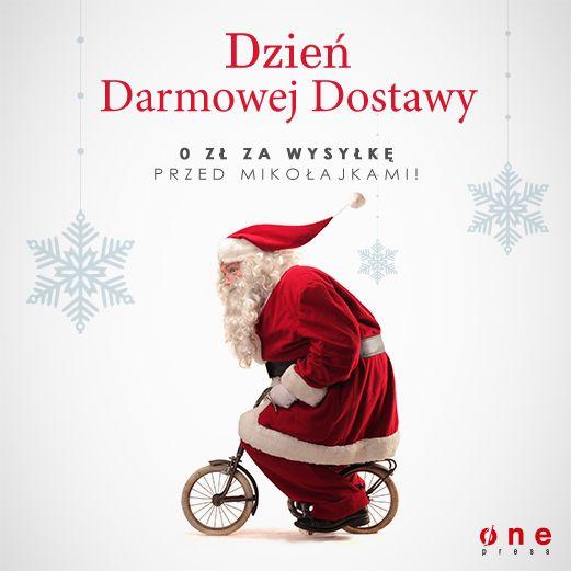 W dniach 2-3 grudnia 2014 wszystkie zamówienia na terenie Polski dostarczamy za darmo!  #darmowadostawa #onepress