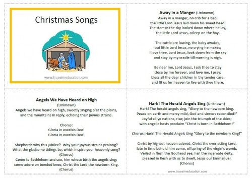 Christmas Carol Printable: 35 Best Images About Christmas Songs 2015 On Pinterest