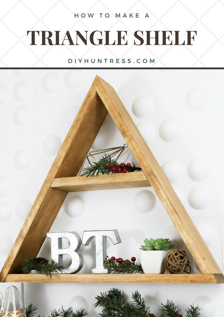 DIY Woodworking Ideas How to make a triangle keepsake shelf with DIY Huntress and The Home Depot! #diy...