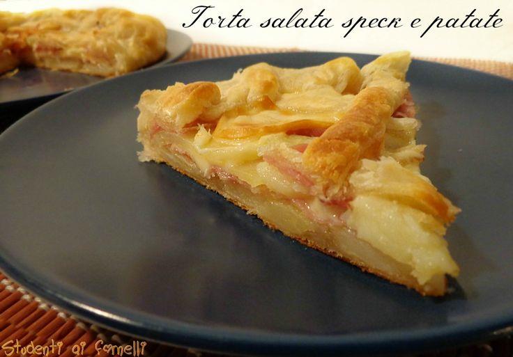 Torta salata speck e patate