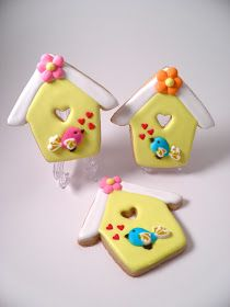 From Captain's Daughter to Army Mom: Bird-themed Decorated Sugar Cookies!