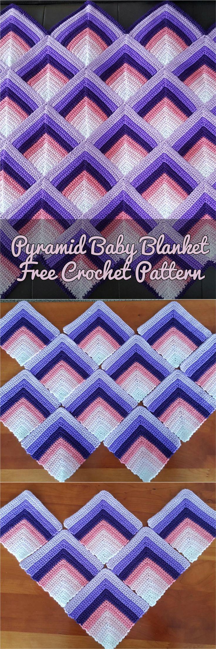 Pyramid Baby Blanket [Free Crochet Pattern]