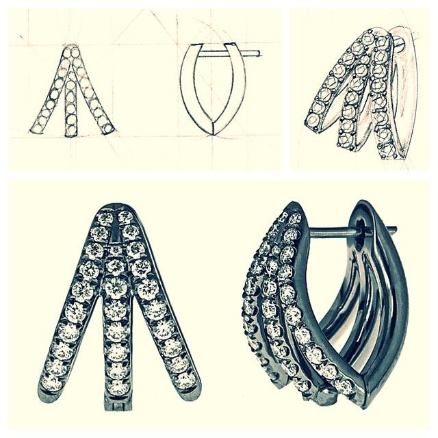 #tbt to the design process! The making of our soon to be CRIS earring! #jewelrydesign