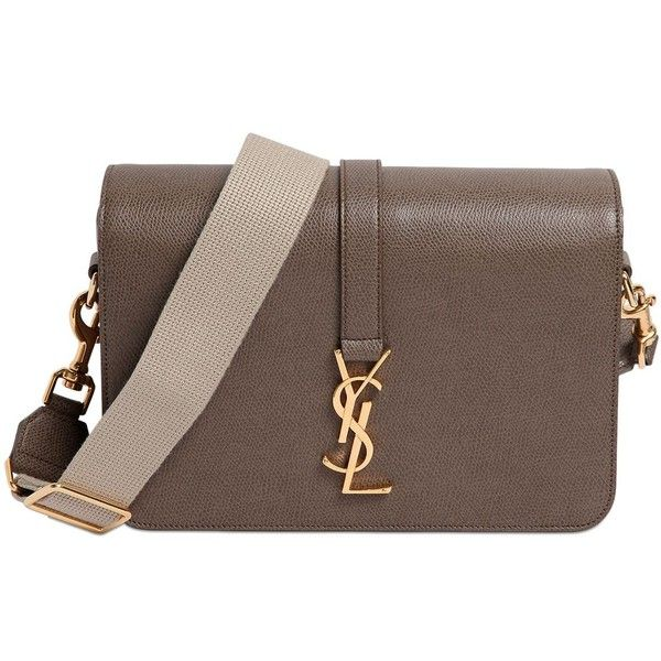 ysl roady handbag - SAINT LAURENT Monogram Grained Leather Shoulder Bag - Military ...